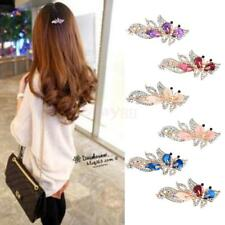 Lady Crystal Hair Barrette Clip Butterfly Hairpin Rhinestone Headwear Claw Clamp