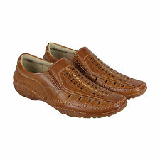 GBX Strite Mens Tan Leather Casual Dress Slip On Loafers Shoes