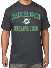 Miami Dolphins Majestic NFL Heart & Soul III Charcoal Men's T-Shirt