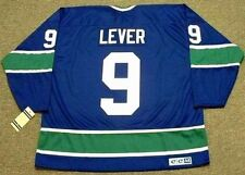 DON LEVER Vancouver Canucks 1974 CCM Vintage Throwback NHL Hockey Jersey