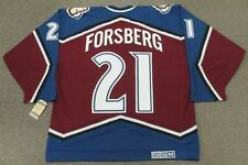 PETER FORSBERG Colorado Avalanche 1996 CCM Vintage Away NHL Hockey Jersey