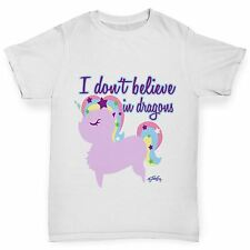 Twisted Envy Girl's Unicorns Don't Believe In Dragons T-Shirt
