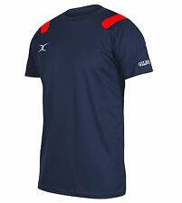 Gilbert Vapour Tee Shirt Mens Rugby Sports Leisure Wear Crew Neck Gents Clothing
