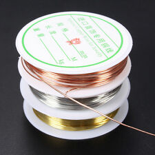 1x0.3/0.4/0.6/0.8mm Silver Gold Plated Copper Wire Bead Jewelry Making DIY Craft