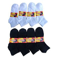 12 Pairs Mamia Men's Women's Ankle Socks Sz. 9-11 Brand New
