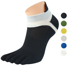 New Men's Summer Breathable Socks Cotton Trainer Sports Five Fingers Toe Socks
