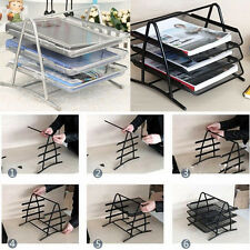 Office A4 Document Paper Organiser Storage Tidy  Filing Trays Holder Wire Mesh