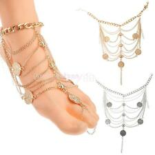 Sexy Women Coin Chain Ankle Anklet Bracelet Barefoot Sandal Foot Jewelry