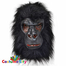 Adults Latex Gorilla Mask Fancy Dress Halloween Stag Party Costume Accessory