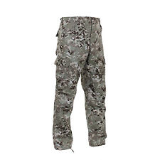Total Terrain Camo BDU Pants Military Camouflage Army Cargo Fatigue Trousers
