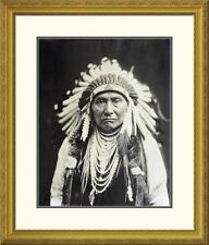 'Chief Joseph, Nez Perce, 1903' by Edward S. Curtis Framed Photographic Print