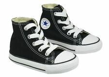 Converse All Star Hi Top Black White Infant Toddler Boys Girls Shoes Size 2-10