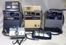 Lot of 5 Vintage Cameras Kodak Instant, Instamatic, 35mm, 110 Cameras UNTESTED