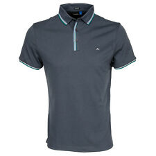 J Lindeberg Cail Tech Mesh Polo Shirt Dark Grey