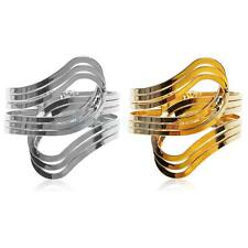 Wide Metal Wristband Open Hand Cuff Bracelet Bangle Armlet Jewelry-Gold/Silver