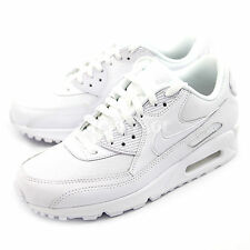 Nike Mens Air Max 90 Essential Triple White Running Shoes Sneakers 537384-111