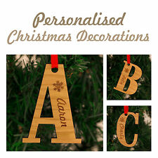 Personalised Christmas Decorations Letters - Names Family Keepsake!!