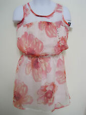 GAP KIDS Girl's Floral Sheer Layered Sleeveless Dress Size XS NWT