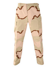 Tri-Color Desert Camo BDU Pants Military Army Cargo Fatigue Tactical Trousers