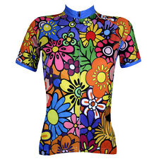 Colourful Flowers Women's Cycling Jerseys Ladies Bike MTB Short Sleeve Shirts