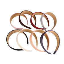 8 Colors Wide Artificial Leather Headband Hair Band Fashion Hair Accessories