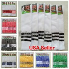 NEW Soccer Baseball Football Basketball Sports Knee Ankle Men Women Stripe Socks