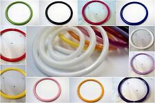 2 x 75mm HUGE LARGE PLASTIC BEAD RINGS JEWELLERY MAKING - SELECTION OF COLOURS!