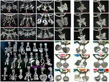 50pcs mixed Tibet Silver Plated Charms Pendants fit European Bracelet & Necklace