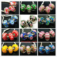 High Quality Single Core European Lampwork Glass Beads Fit Charm Bracelet