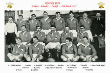 WALES 1955 (v Ireland) INTERNATIONAL RUGBY TEAM PHOTOGRAPH or POSTCARD