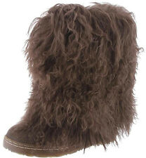 Bearpaw Women's Boetis II Chocolate Brown Fur Boots Shoes New Size 6 7 8 9 10 11