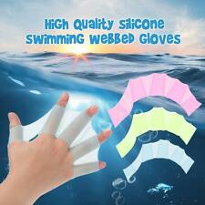 1Pcs Swim Gear Fins Silicone Hand Flippers Webbed Gloves Swimming Useful! D9R0