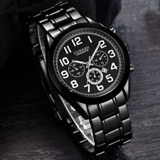 Real CURREN Mens Stainless Steel Band Date Military Quartz Sport Wrist Watch