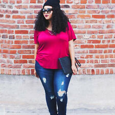 Summer New Women Short Sleeve T-shirt Ladies Casual Loose Shirts Tees Plus Size