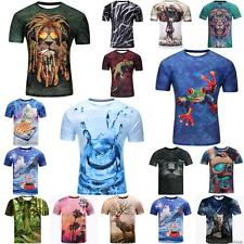 Water Droplets 3D Animal Print Womens Mens T Shirts Short Sleeve Casual Tee Tops