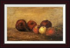 Global Gallery Apples by Gustave Courbet Framed Painting Print