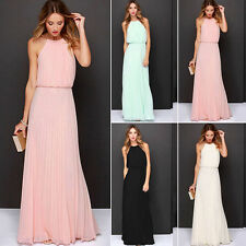 Women Sexy Long Chiffon Evening Formal Party Cocktail Dress Bridesmaid Prom Gown