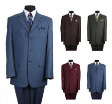 Quality Wool Feel Suit 3 Button Comes with Dress Pants 36--60 Milano Moda MD5802