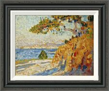 'Countryside at Noon' by Theo Van Rysselberghe Framed Painting Print