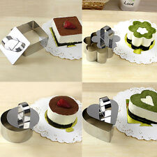 5 Style Stainless Steel Mousse Ring Mold Layer Slicer Cook Cutter DIY Bake Best