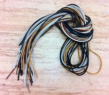 "(1 Pair, 2 Laces) 72"" Length x1/8"" Width Rawhide Leather Shoe Boot Shoelaces"
