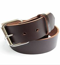 "Big & Tall Mens Heavy Duty Dark Chocolate Brown Leather Belt 1 3/4"" Wide (46-72)"