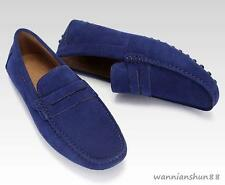 Mens Casual dress slip on loafer suede leather Moccasins driving car shoes New