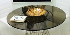 """Bronze Round Tempered Glass Table Top 1/2"""" Thick  Flat Polish Edge Free Shipping"""