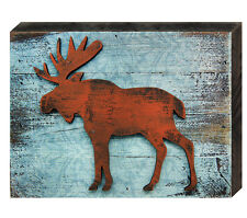 aMonogram Art Unlimited Reclaimed Wooden Vintage Moose Wall Décor