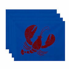 e by design Nautical Nights Lobster Coastal Placemat Set of 4