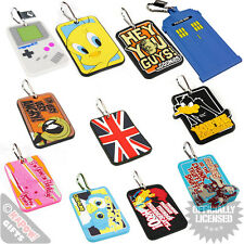 Luggage Tags - Suitcase Baggage Holiday Personalise Cool Funky Design Retro