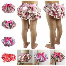 Toddler Infant Baby Girls Ruffles Panties Elastic Bloomers Shorts Diaper Cover
