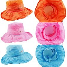 Womens Sun Hat Cap Wide Brim Floppy Strap Summer Outdoor Hiking Camping Fishing