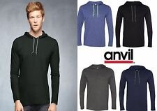 Anvil 987 100% Combed Ringspun Cotton Long Sleeve Hooded T-Shirt - 987AN